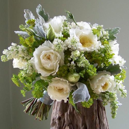 Lush Garden Bridal Bouquet With 39 Patience 39 David Austin Garden Roses